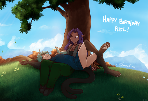 AI Birthday Giftart by Twokinds
