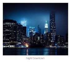 Night Downtown by AlexMarshall