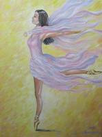 ballerina, oil painting by oxanaart