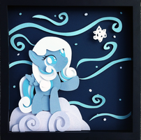 Commission:  Snowdrop Shadowbox by The-Paper-Pony