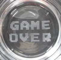 GAME OVER Etched Glass by LordLibidan