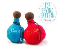 Potion Bottle - Free Pattern PDF by BeeZee-Art