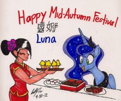 Princess Luna in Chinese Mid-Autumn Festival by newyorkx3