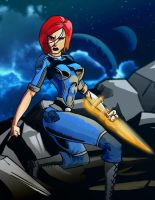 Commander Shepard - Comic Book Style by Garrenh