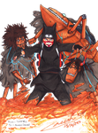 Gift 03: Kankuro + his puppets by TaffyVib
