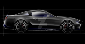 Boss 302 - quick drawing by camaro1