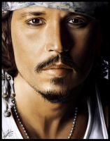 Obligatory JohnnyDepp Painting by Sheridan-J