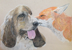 The Fox and the Hound by TiffMootrey