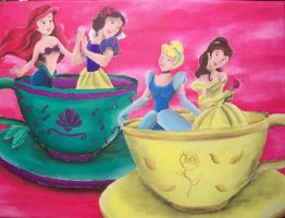 Princesses in Tea Cups by billywallwork525