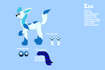 .:Ice the Glaceon ref 2016:. by Rainbow-cat97