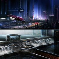 Sci-Fi environments by BlueRogueVyse