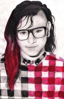 Red Skrillex by Zoorka