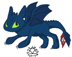 Toothless by GoWaterTribe