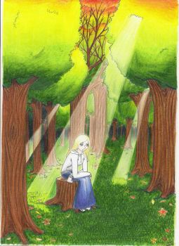 The forest and the girl by AnaDjBarbie