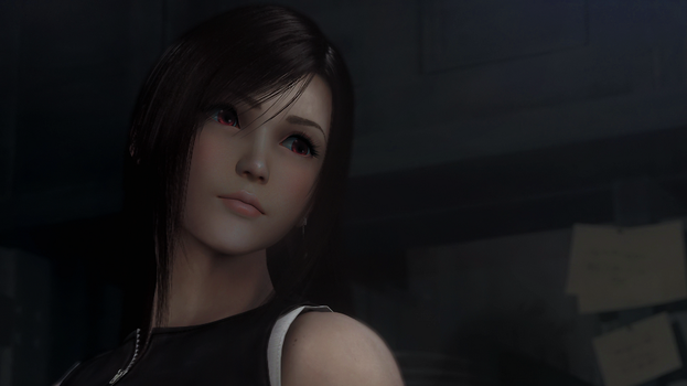 Tifa Photo Manip by EnigmaPhenomenon