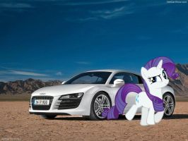 Swag Rarity and Her Audi by RDbrony16