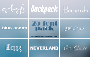 25 Font Pack by mystrlix