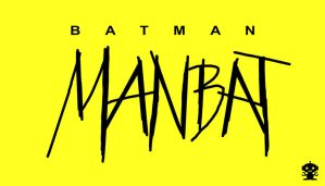 1995 Batman Man-Bat Comic Title Logo by HappyBirthdayRoboto