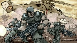 Gears of War Entry 1 by artistjerrybennett