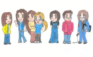 Chibi: My friends and me by ElvenAngel
