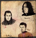Aro Volturi, Severus Snape and Petyr Baelish by AyvazyanMara