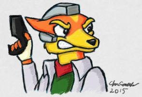 Angry Fox McCloud by FieryBirdyThing