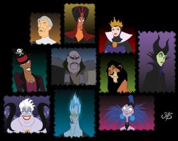 Disney Villains by venonsting