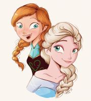 .Anna and Elsa. by heeyjayp17