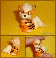 Pokemon - Arcanine Charm Necklace - Close Ups by YellerCrakka