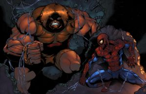 Spidey vs Juggy by zaratus