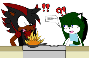Fire in the pan! (collab) by Kinathecat