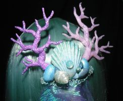 Calypsos Waves - Hairclip with handsculpted Corals by Ganjamira