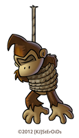 DKC2 Collab - Donkey Kong (tied up) by kjsteroids