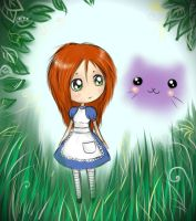 chibi Alice and Cheshire by Klodia13