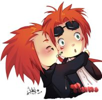 Axel and Reno by fallen10faby