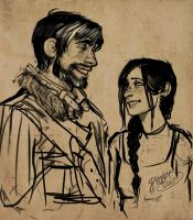 baby Hawke and Daddy Hawke by Pheberoni