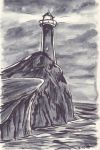 Lighthouse [Inktober 2] by Erleuchtete