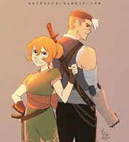 Pidge and Shiro x Fantasy AU by SolKorra