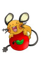 Dedenne's apple by Pupuomena