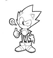 [SKETCH] CD Sonic by Chaocaster