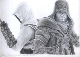 Assassin's Creed first time pencil drawing by xrapg