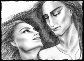 Feanor and Nerdanel by Airendis
