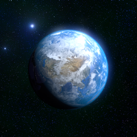 Blue marble/In space v2 (Andrew Price tutorial) by iOVERD