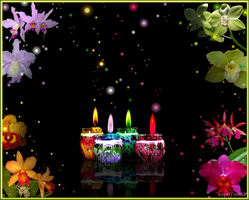 Candles And Orchids Wallpaper by AngelTimi88