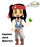 Chibi Captain Jack Sparrow by BraveMoonGirl