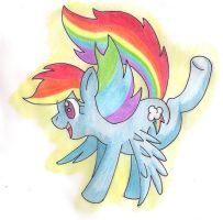 Rainbow dash traditional by shinkuma