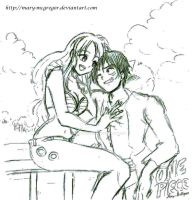 OP: Nami n Luffy Forever by Mary-McGregor