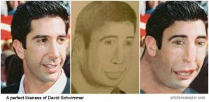 A perfect likeness of David Schwimmer by Art-of-Eric-Wayne