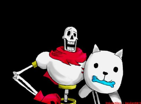Papyrus and Annoying Dog by ThisIsNiko