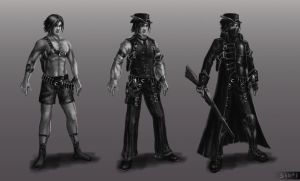 Steampunk Character concept by dima-sharak